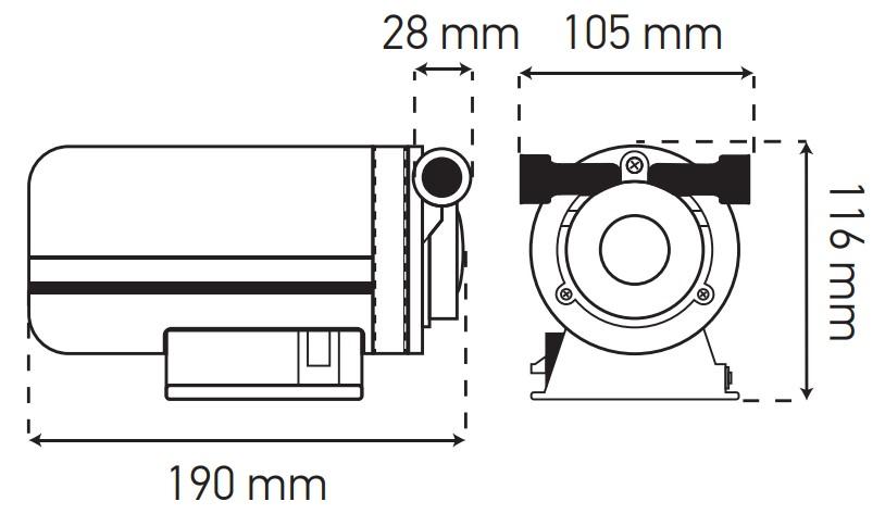 Насос повышения давления KOER KP.P15-GRS15 (с гайками, кабелем и вилкой) (KP0255)