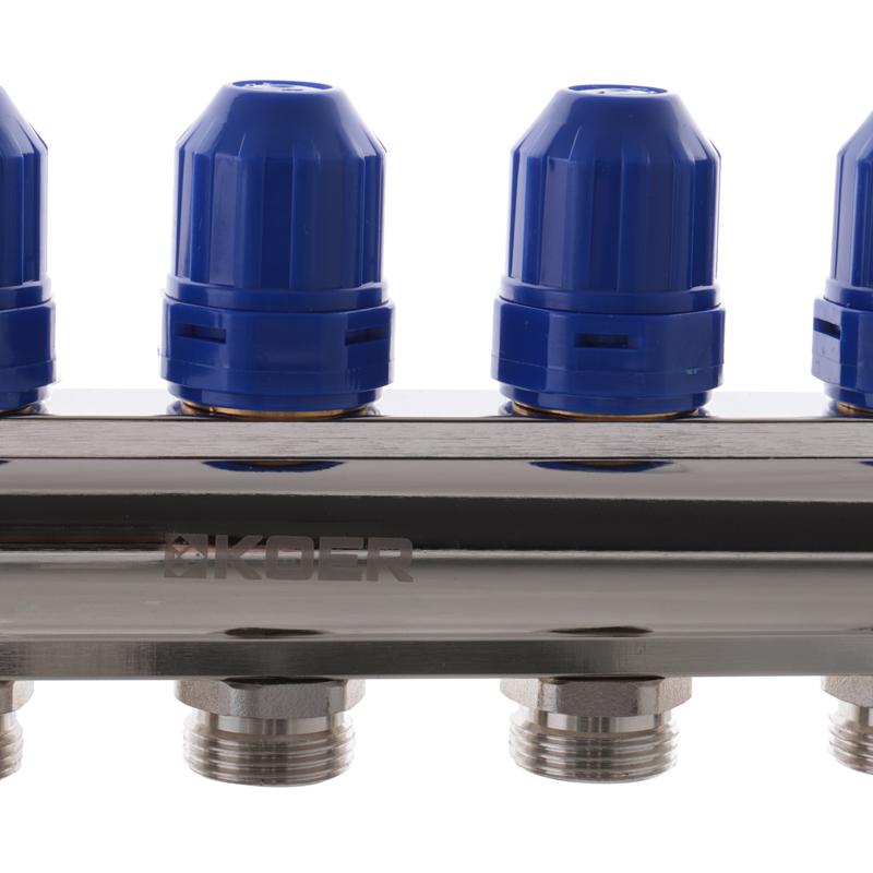 """Коллекторный блок с расходомерами KOER KR.1110-06 1""""x6 WAYS (KR2643)"""