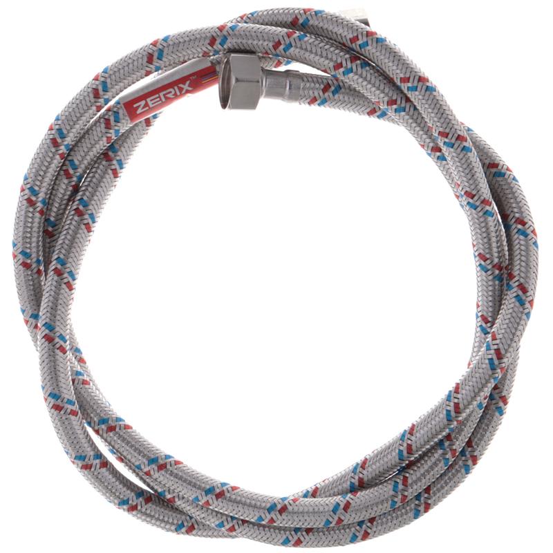 Гнучкий шланг для підключення води Гайка 1/2'' - Гайка 1/2'' (180 см) ZERIX (ZX1557)
