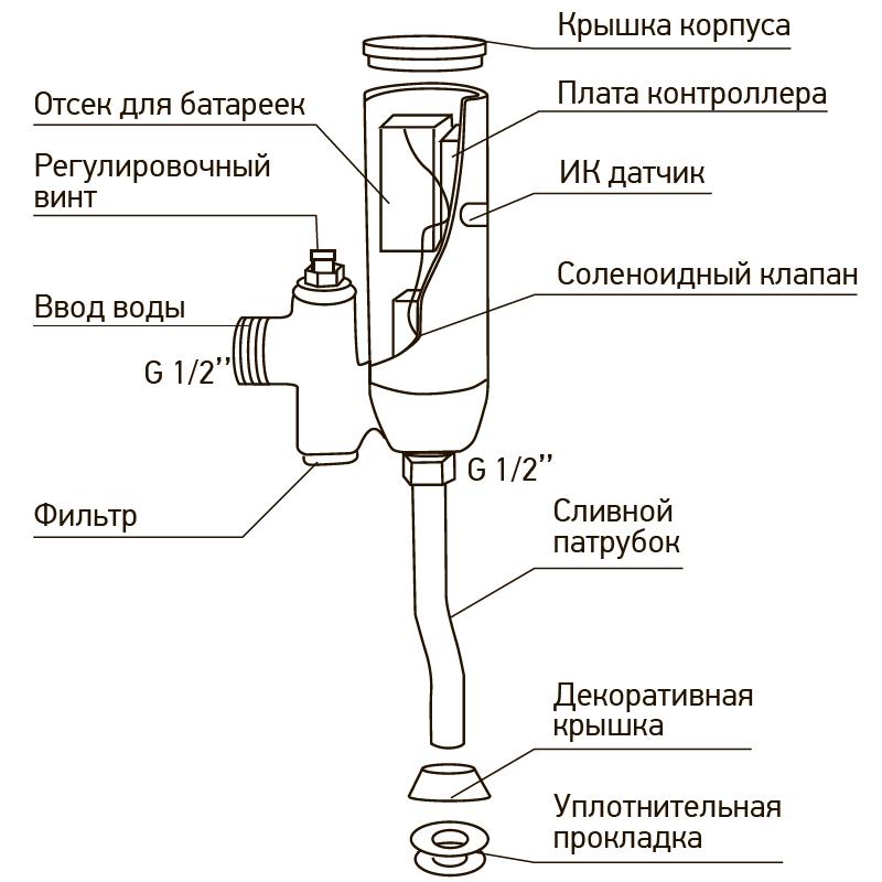 Кран для пісуара сенсорний MIXXUS PREMIUM PHOTO 031 (MI2839)