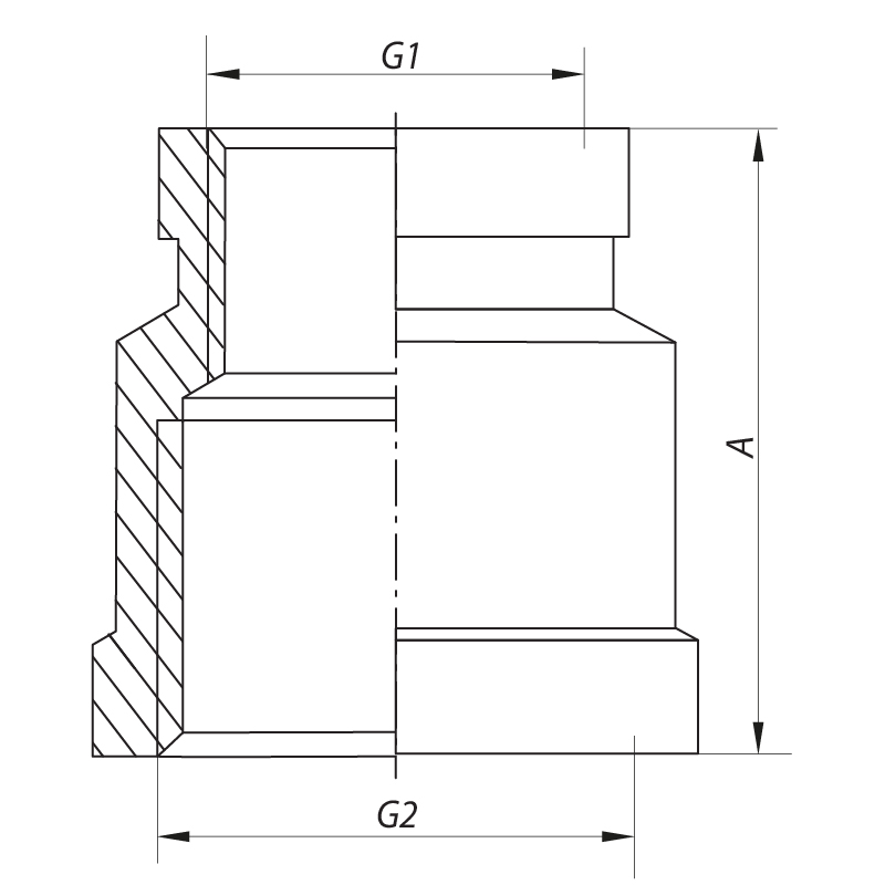 "Муфта редукційна 1""x1-1/2"" KOER KF.C1016 (KF0022)"