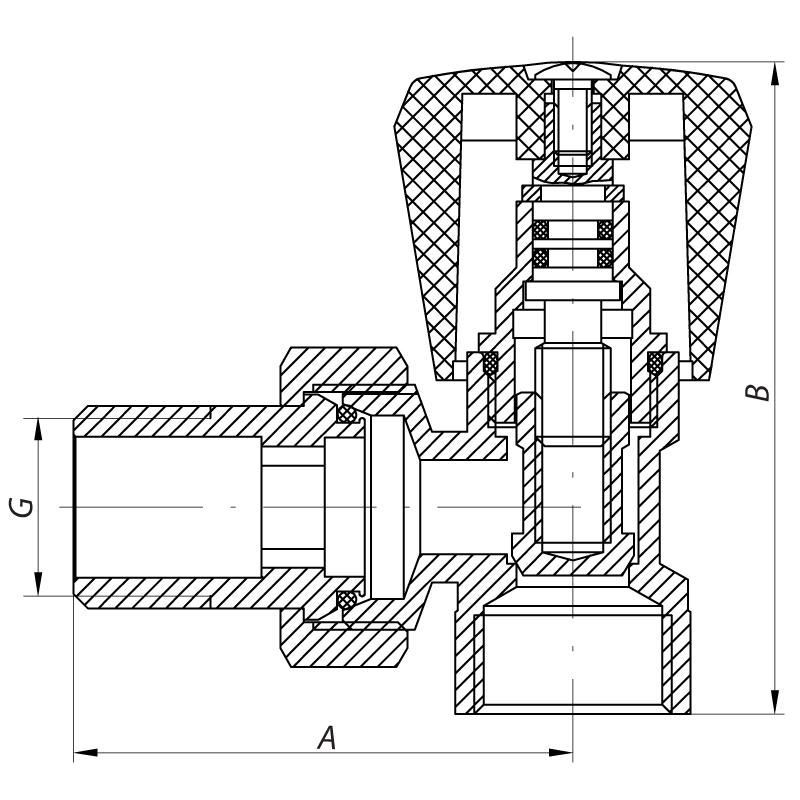 Вентиль 3/4x3/4 KOER KR.901 (KR0138)