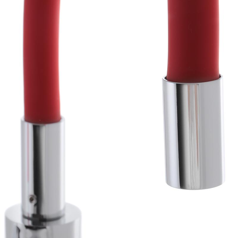 Змішувач для кухні з силіконовим виливом MIXXUS PREMIUM RIO 011 Червоний (MI5817)