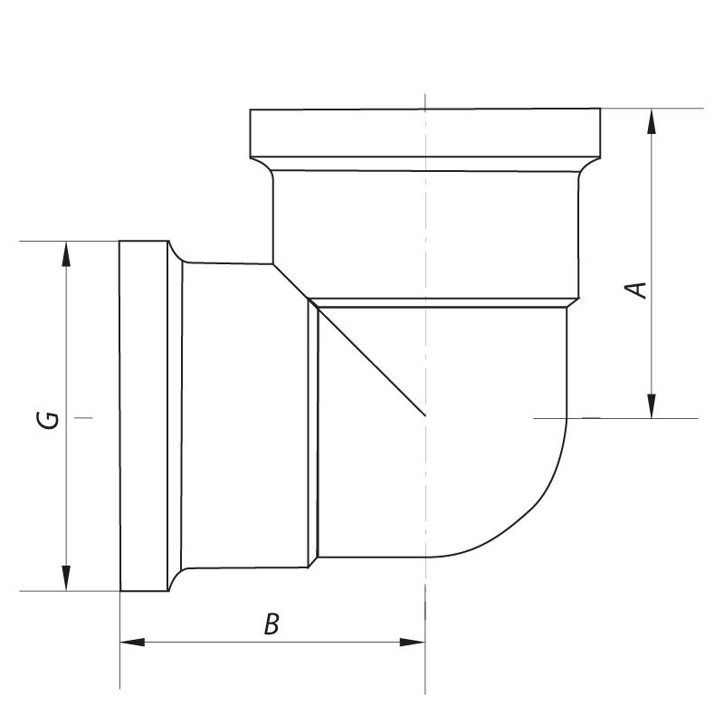 Кут 3/4'' ВВ (хром) KOER KF.L08F.CHR (KF0125)