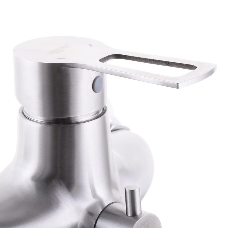 Змішувач для ванни з нерж. сталі SUS304 ZERIX HSB-006 (EURO) (ZX3160)