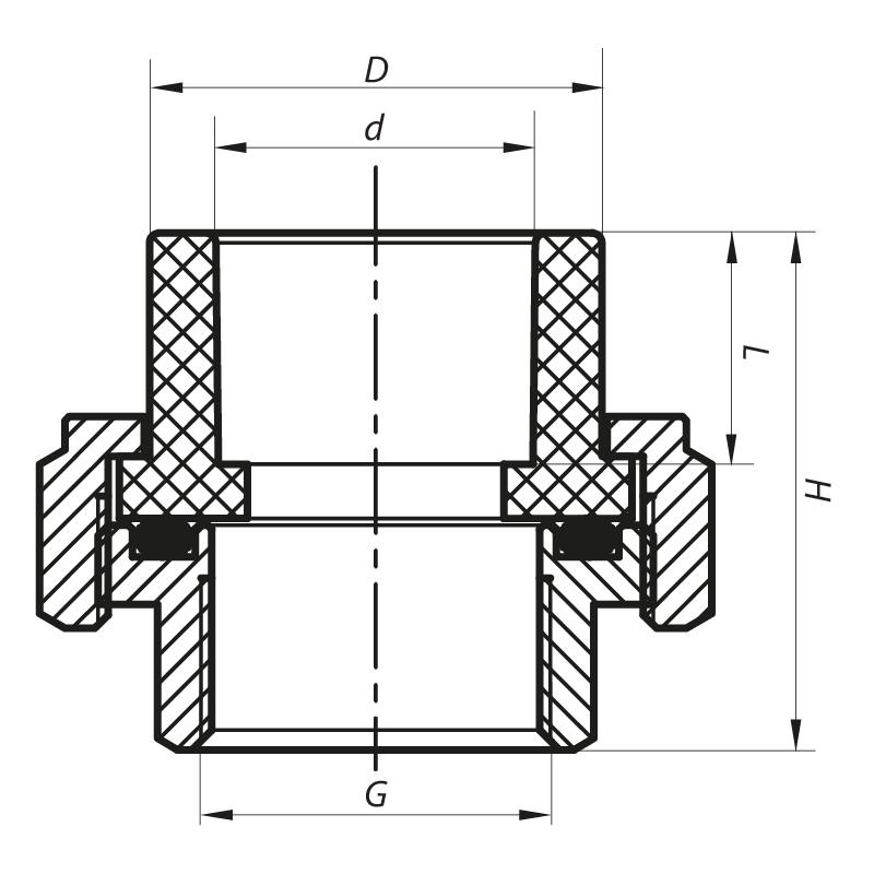 Згін-американка ВР 40x1.1 / 4F PPR KOER K0132.PRO (KP0167)